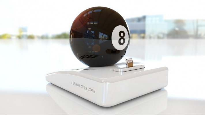 Billiard 8 pool charging station for smartphones - Billiard 8 pool white